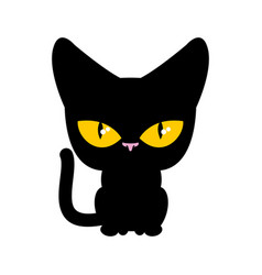 cat black isolated pet on white background vector image vector image
