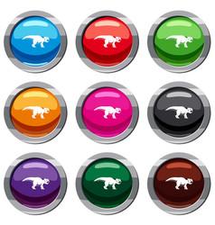 ceratopsians dinosaur set 9 collection vector image vector image