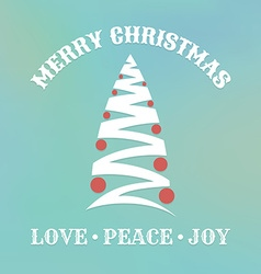 Christmas label with christmas tree vector image