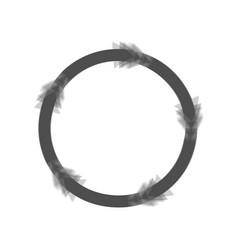 Circular arrows sign gray icon shaked at vector