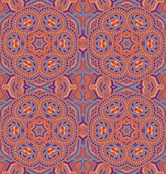 colored hand drawn psychedelic zentangle pattern vector image vector image