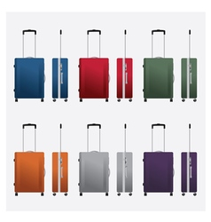 colorful travel luggage vector image vector image