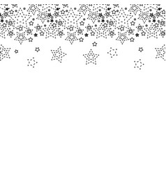 Dotted shape stars christmas decoration backgroud vector