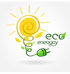 eco energy solar sun alternative power vector image vector image