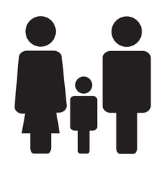 family icon on white background family sign flat vector image vector image