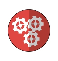 Gear wheel engine cog icon pink shadow vector