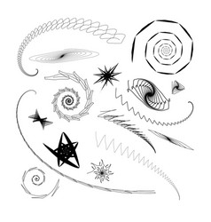 Graphical abstract a set of different swirls and vector