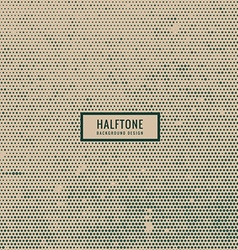 Halftone in old style vector