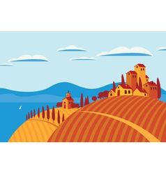 Landscape italy vector image vector image