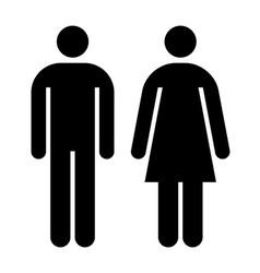 Male female sign vector