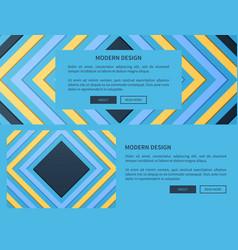 modern design web blue on vector image vector image
