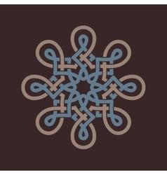 Round design element on brown background vector