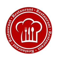 round restaurant icon vector image vector image