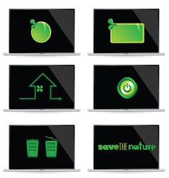 save the nature vector image vector image