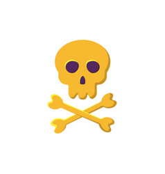 skull and bones icon vector image vector image