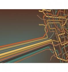 subway slant vector image