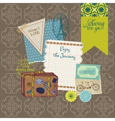 Travel Set of retro design elements vector image vector image