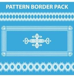 White Pattern Border Pack vector image