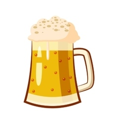 Glass mug with beer icon cartoon style vector image