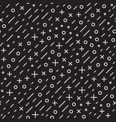 retro geometric line shapes seamless patterns vector image