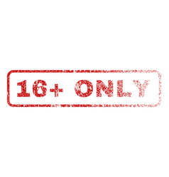 16 plus only rubber stamp vector