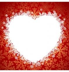 snow frame heart vector image