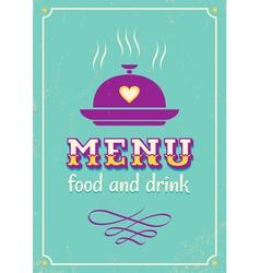 menu purple vector image