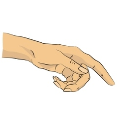 Pointing hand of woman vector
