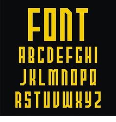 Simple font design vector