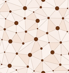 Atomic background with interconnected brown dots vector