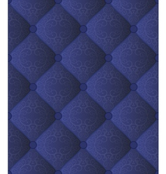 Quilted blue fabric vector