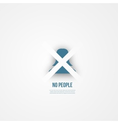 Abstact people template Anonymous icon vector image