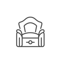 armchair line icon vector image