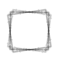 Arrow on a square shape gray icon shaked vector