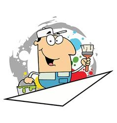 Cartoon Painter Man vector image
