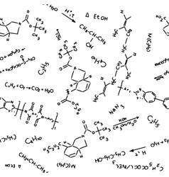 chemistry pattern vector image