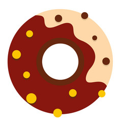 Chocolate donut icon isolated vector