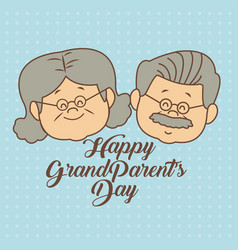Color dotted background card with faces elderly vector