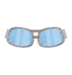 Drawing glasses eye protect modern vector