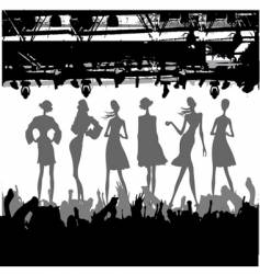 Fashion podium silhouette vector