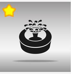 fountain black icon button logo symbol vector image vector image