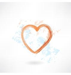 Heart grunge icon vector