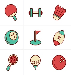 Icons Style Sport icons Set Design vector image vector image