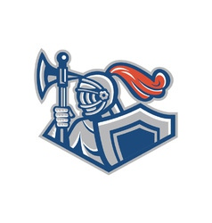 Knight shield symbol vector image vector image