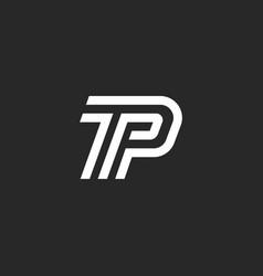 Letters tp logo initials minimal style monogram vector