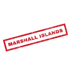 Marshall islands rubber stamp vector