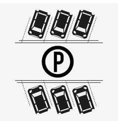 Parking lot design park icon white background vector