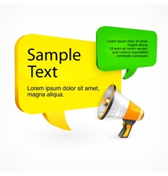 Promo speech bubble with text megaphone vector image vector image