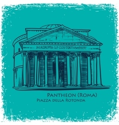 Rome building hand drawn vector