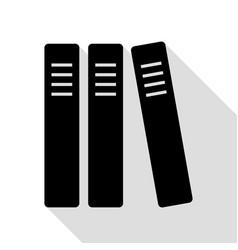 row of binders office folders icon black icon vector image vector image